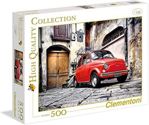 Clementoni 30575.9 - Puzzle kolekcja FIAT 500, 500 elementów