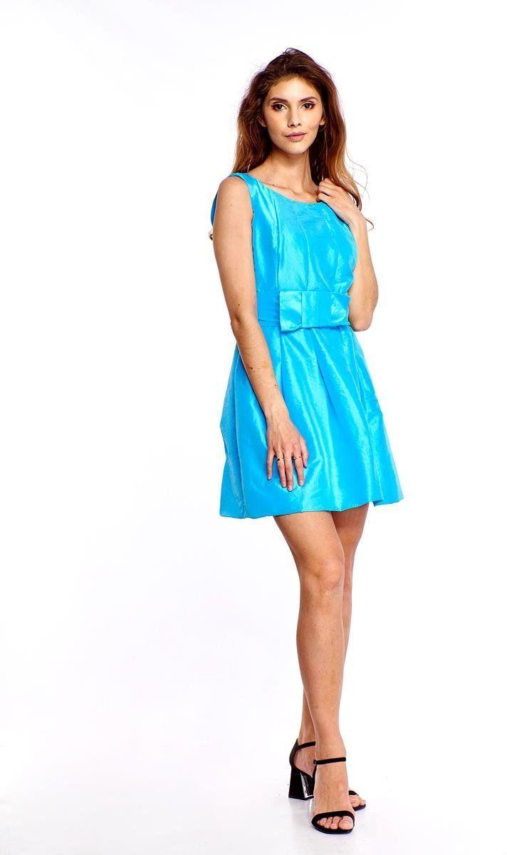 Sukienka FSU156 TURKUSOWY
