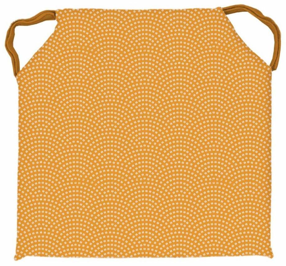 Soleil d''Ocre poduszka do siedzenia, poliester, żółta, 40 x 40 cm