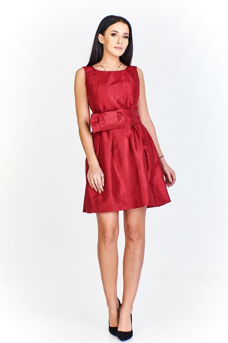 Sukienka FSU156 RUBINOWY