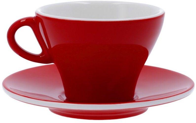 Filiżanka do latte Club House Gardenia 265 ml - Czerwona