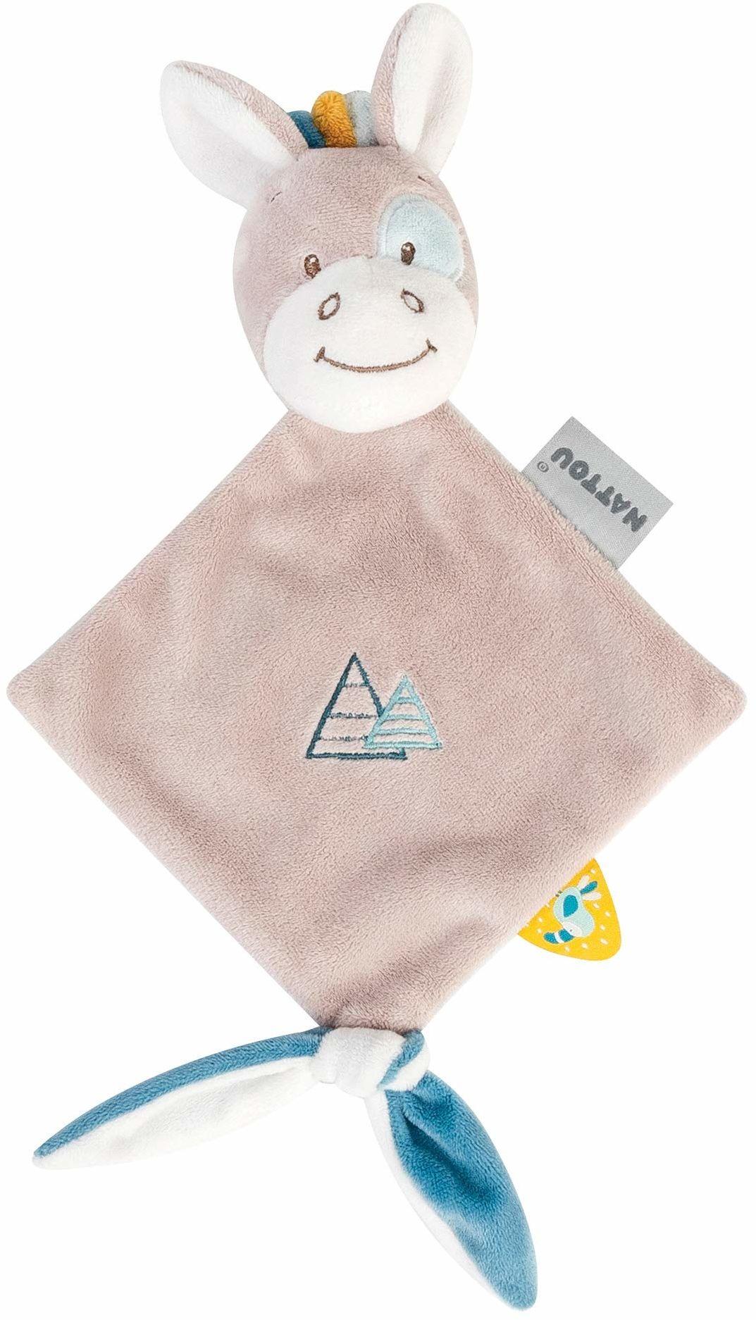 Nattou Mini chustka na smoczek, 25 x 20 cm, tim, beżowa