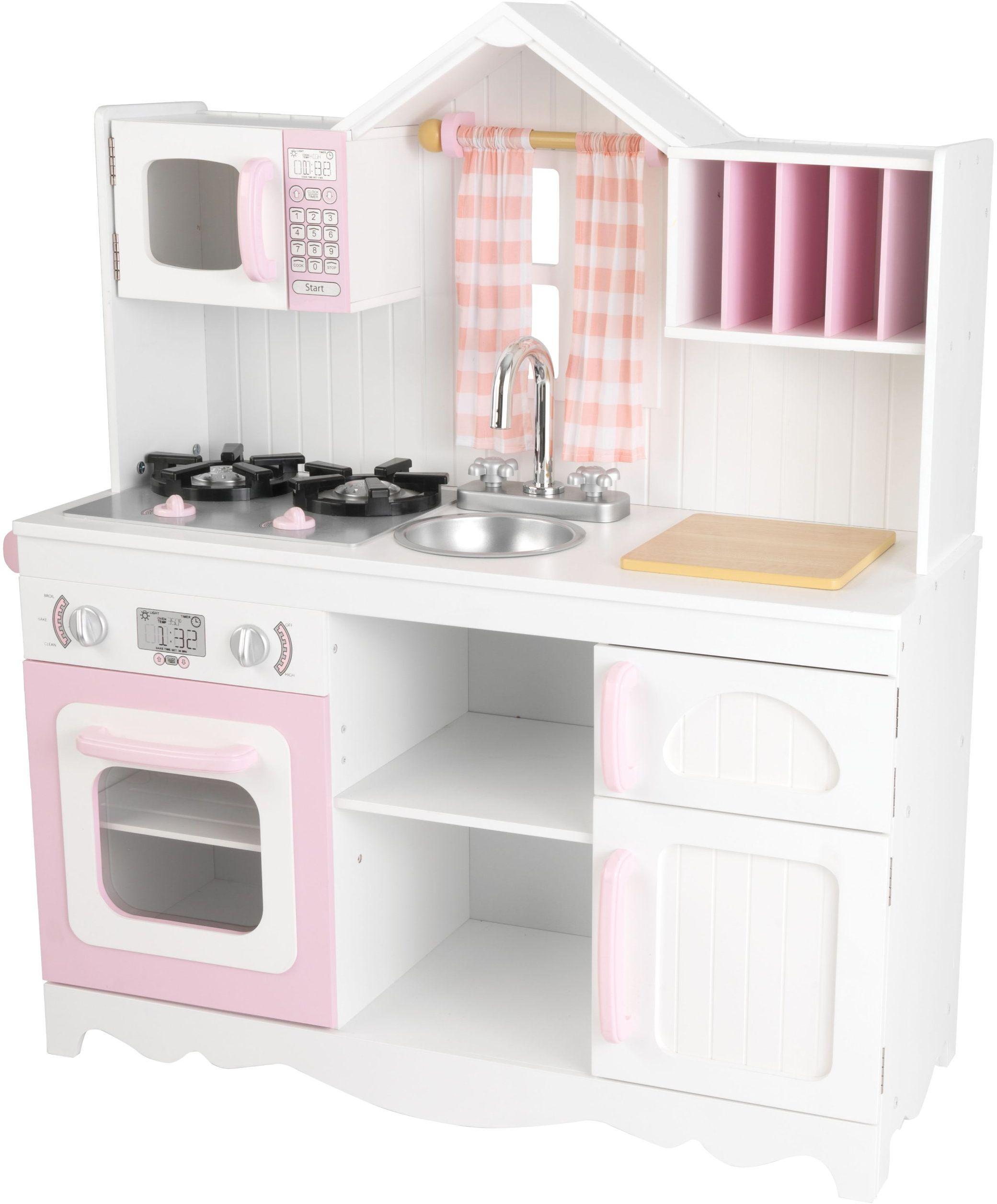 KidKraft 53222 Współczesna kuchnia do zabawy, kolor różowy i biały