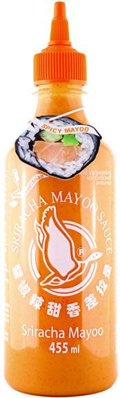 Sos chili Sriracha Mayoo, łagodnie pikantny (chili 20%) 455ml - Flying Goose