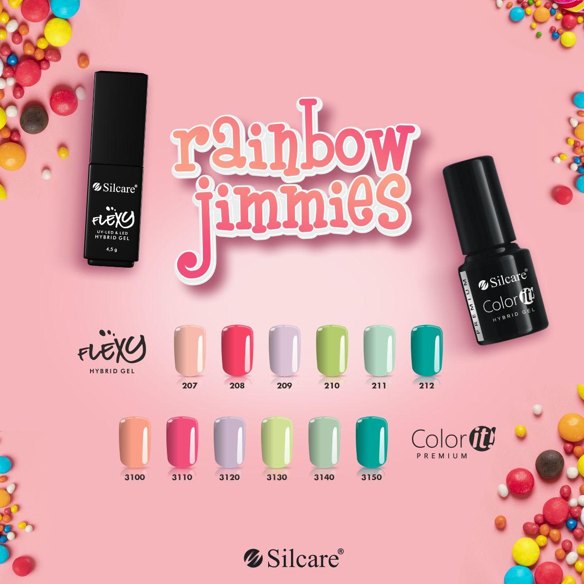 Flexy Lakiery Hybrydowe - Linia Rainbow Jimmies 4.5 g