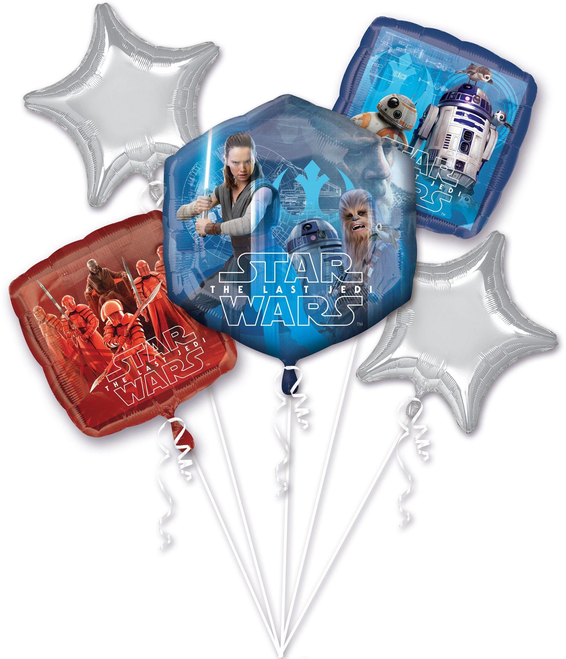 Amscan 3668501 Balon foliowy Bouquet Star Wars - ostatnie Jedi