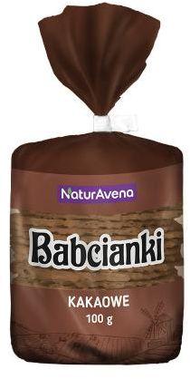 Wafelki bez tłuszczu i bez barwników kakaowe 100 g Babcianki