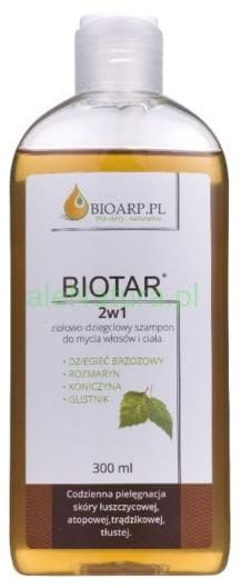 BIOTAR 2w1 szampon ziołowo dziegciowy 300ml
