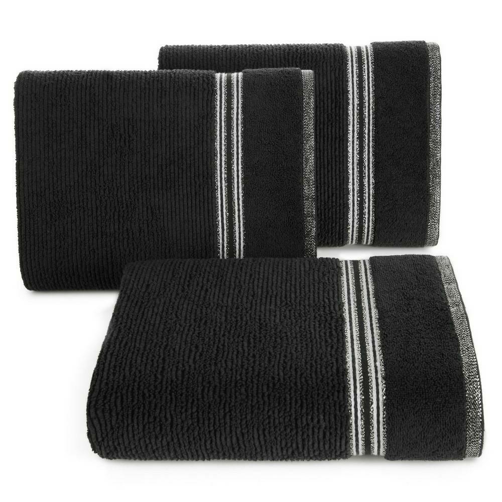 Ręcznik 30x50 Filon 11 czarny 530g/m2 Eurofirany
