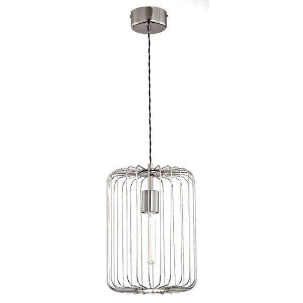 Druciana lampa kratka LENKA chrom śr. 27cm - chrom