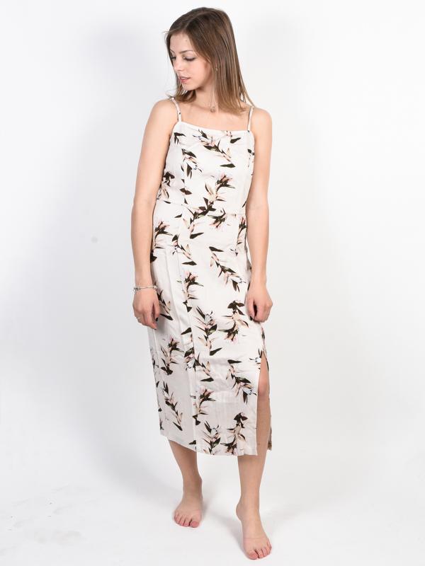 RVCA FANCY THAT PUMICE STONE luxury ball suknia długa - XS