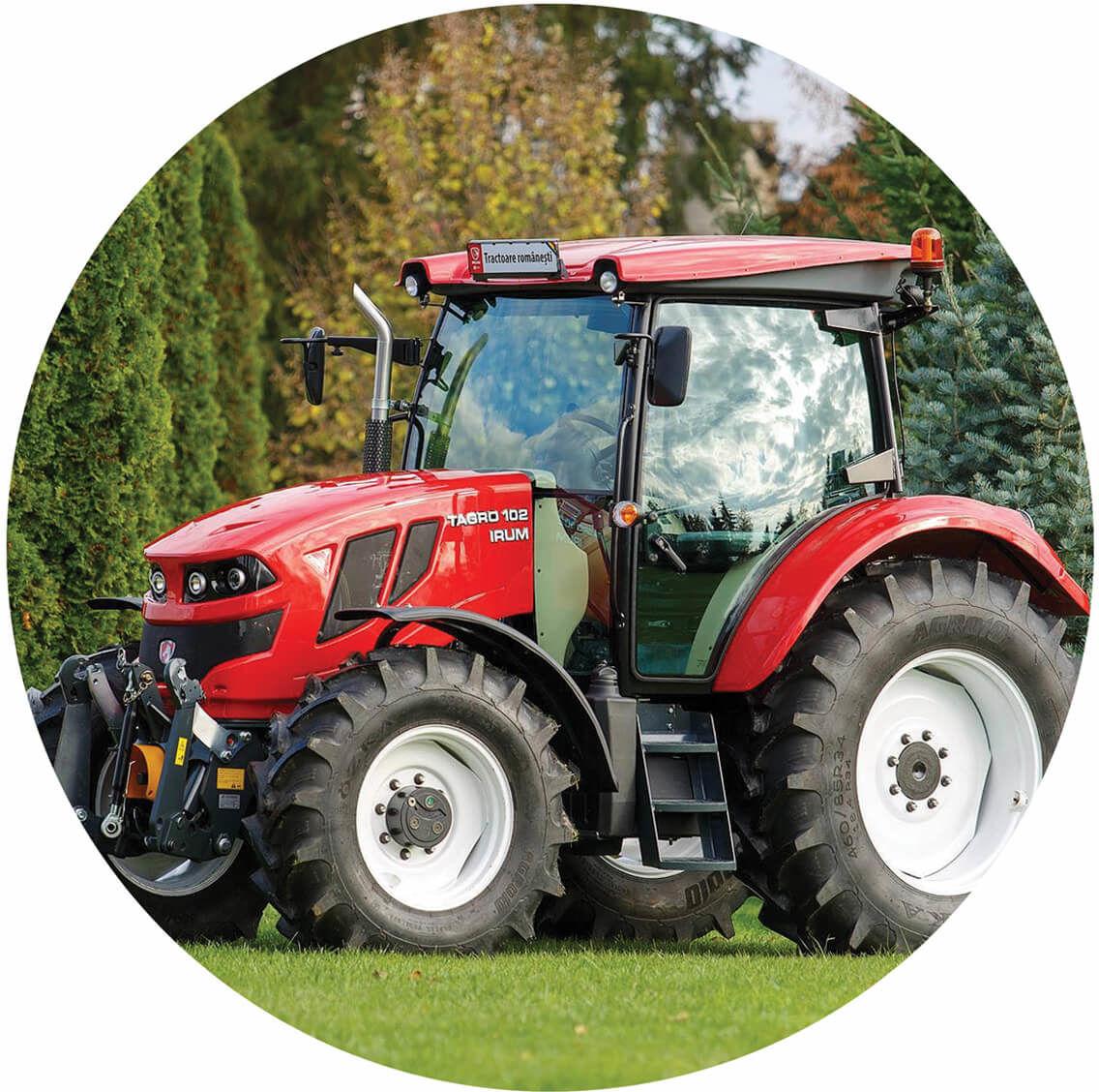 Dekoracyjny opłatek tortowy Traktor - 20 cm