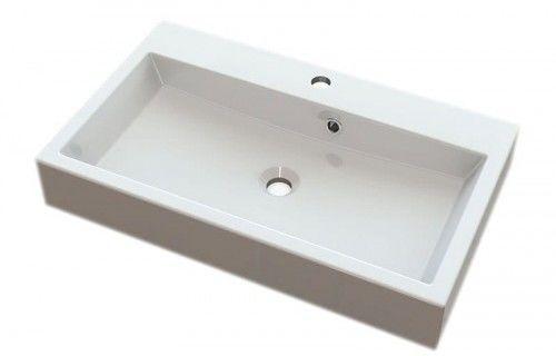 Umywalka kompozytowa ORINOKO 70x42cm, biała