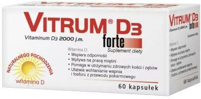Vitrum D3 Forte 2000j.m. witamina D3 60 kapsułek