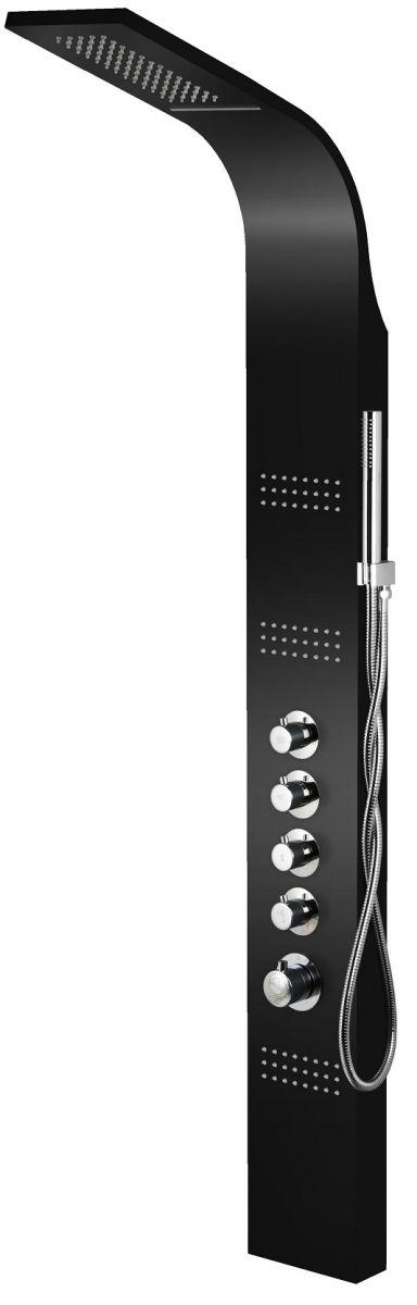 Corsan Led Kaskada panel natryskowy z termostatem czarny A-013ATCZARNY