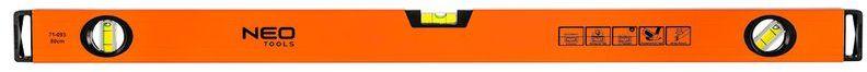 Poziomnica aluminiowa 3 libelle frezowana dolna powierzchnia 80cm 71-093