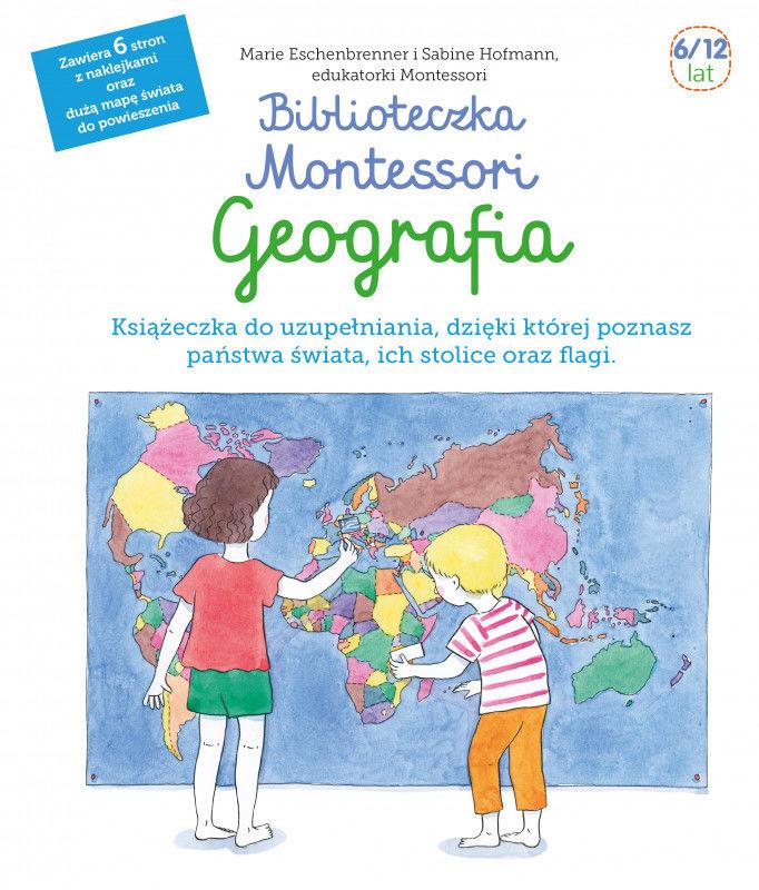 Biblioteczka Montessori Geografia ZAKŁADKA DO KSIĄŻEK GRATIS DO KAŻDEGO ZAMÓWIENIA