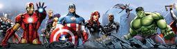 AG Design Marvel Avengers samoprzylepna bordiura, naklejka ścienna, folia, wielokolorowa, 500 x 10 cm