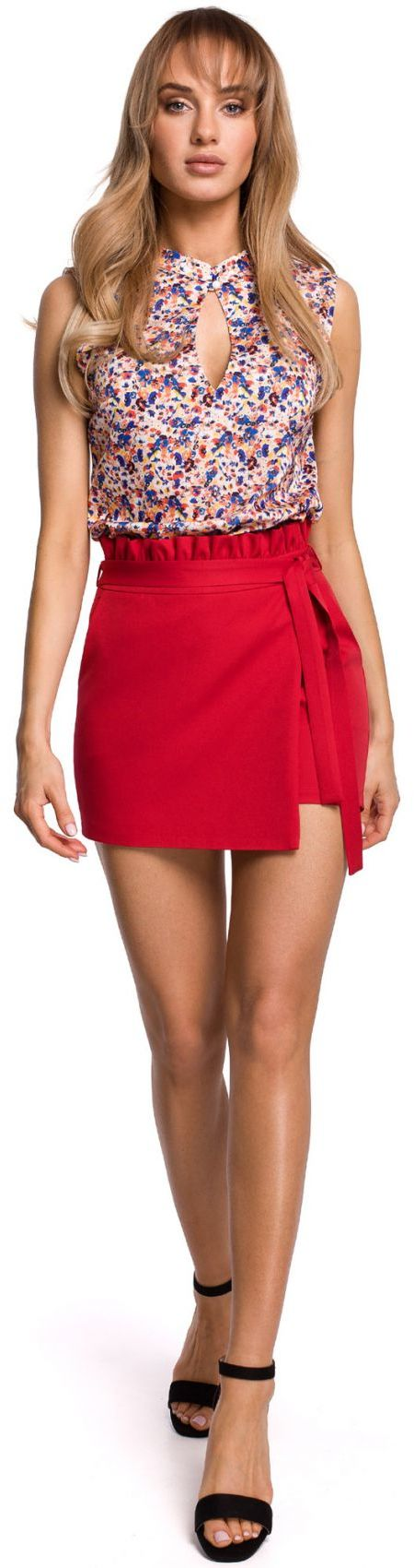 M515 Spódnico-spodnie szorty - czerwone