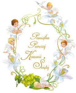 Pamiątka Pierwszej Komunii Świętej Aniołki
