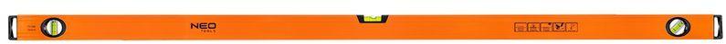 Poziomnica aluminiowa 3 libelle frezowana dolna powierzchnia 150cm 71-096