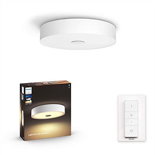 Philips Hue Fair White Ambiance Lampa sufitowa LED, biała, szeroka paleta odcieni bieli + Bezprzewodowy regulator przyciemniania