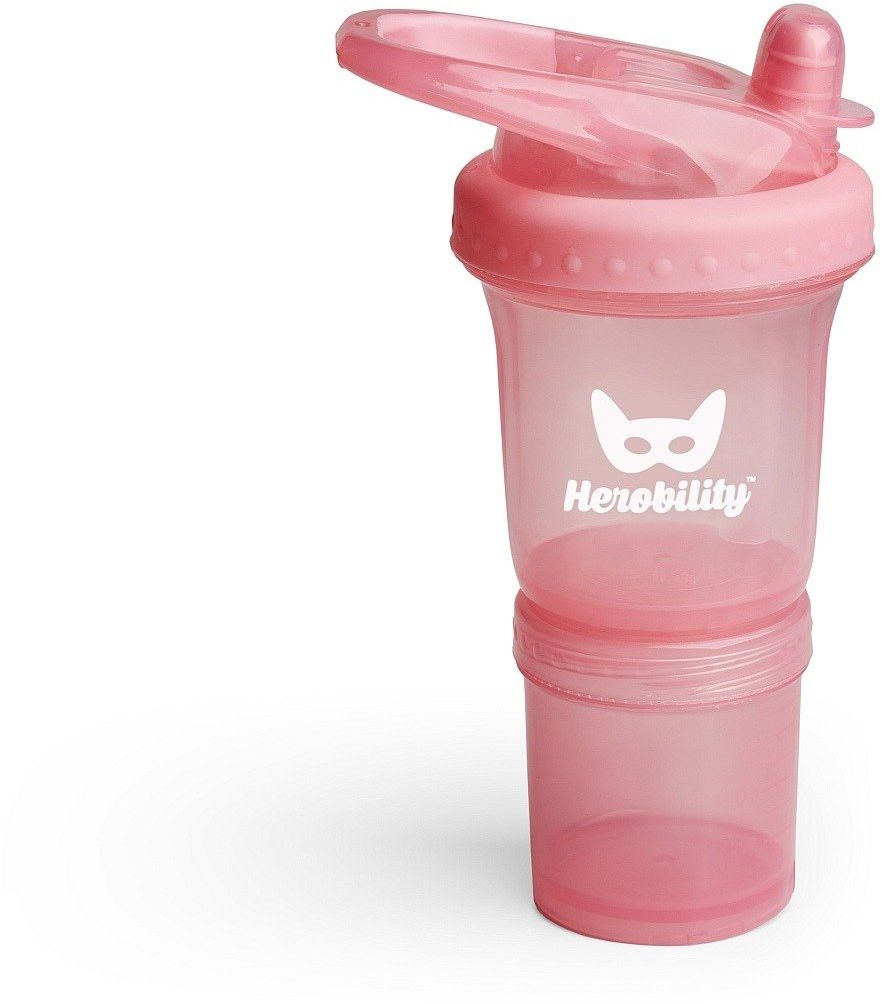 Herobility - bidon HeroSport 140ml - różowy - Różowy