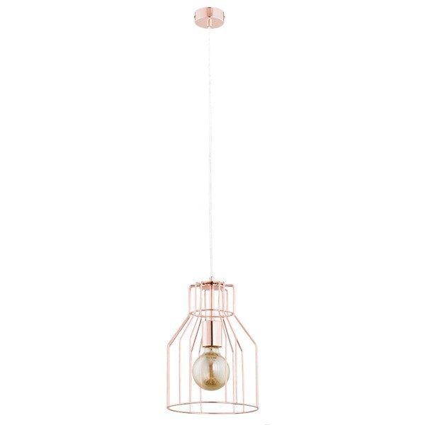 Druciana lampa kratka BASKET miedź śr. 23cm
