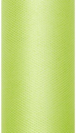 Tiul dekoracyjny jasnozielony 30cm rolka 9m TIU30-102 - JASNY ZIELONY 30CM