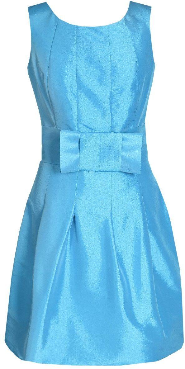 Sukienki Sukienka Suknie FSU156 LAZUROWY