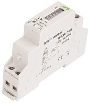 Licznik energii elektrycznej 1-fazowy 5/45A 230V z wyświetlaczem bębenkowym LE-01