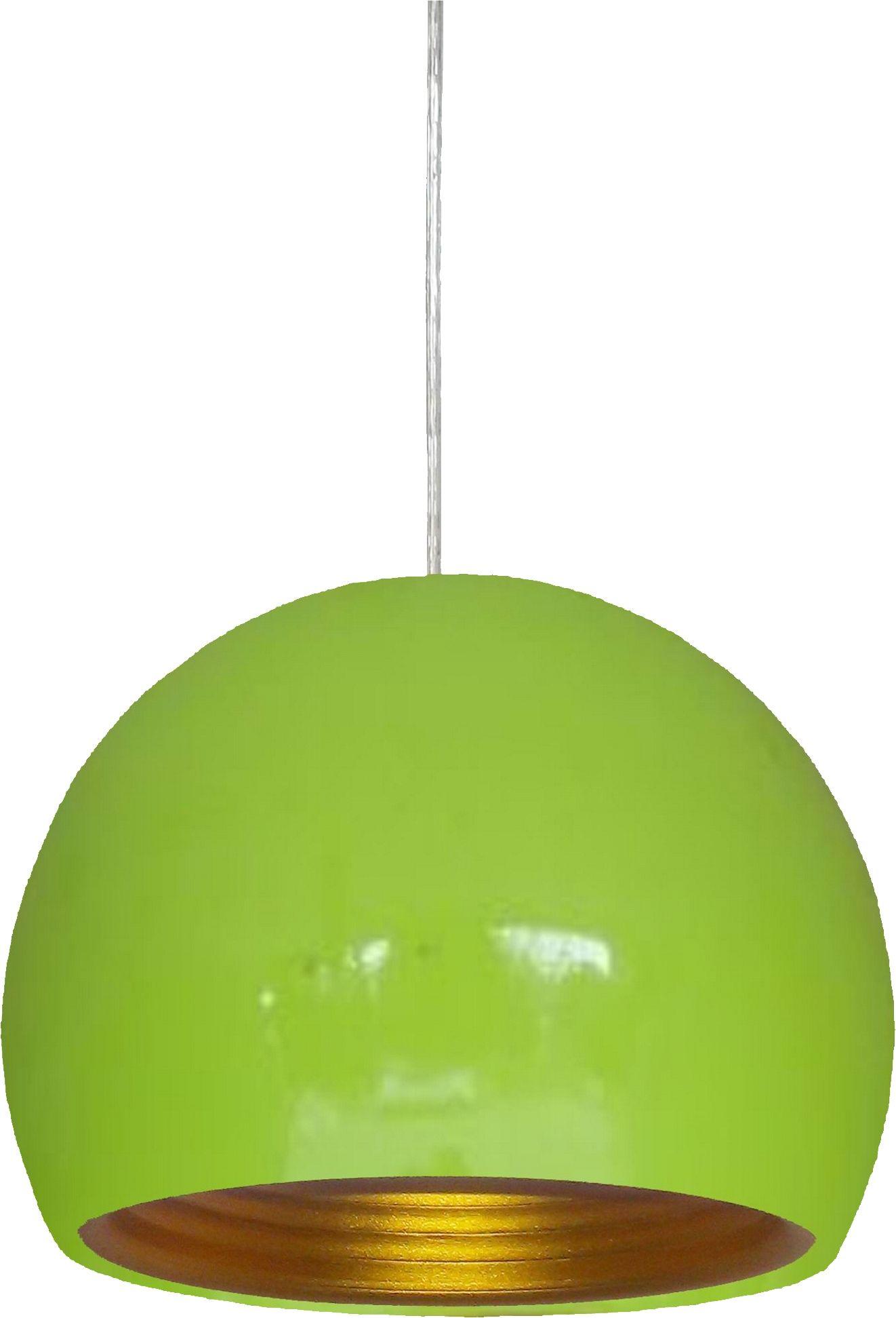 Candellux PICTOR 31-15136 lampa wisząca 1X60W E27 zielony metalowy półkulisty klosz z odbłyśnikiem 25 cm