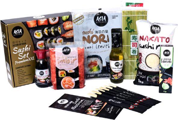 Sushi Set Premium XXL, zestaw do sushi dla 6-8 osób - Asia Kitchen