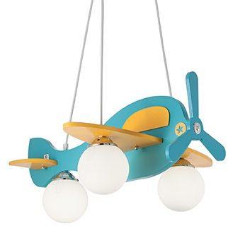 Lampa wisząca Avion 136325 Ideal Lux kolorowa oprawa do pokoju dziecięcego