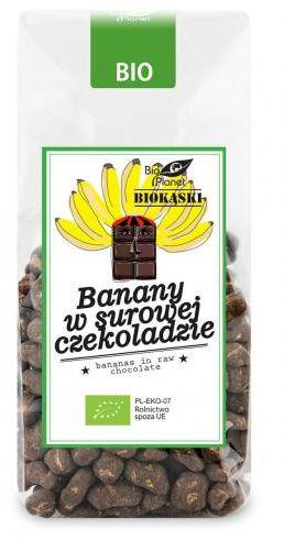 Banany w surowej czekoladzie BIO 250 g Bio Planet