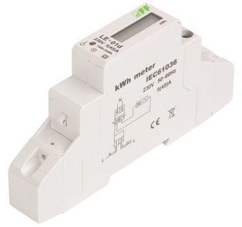 Licznik energii elektrycznej zgodność z MID 1-fazowy 5/45A 230V z wyświetlaczem LCD LE-01D