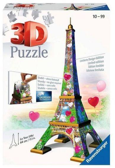 Puzzle 3D Wieża Eifla Edycja Love