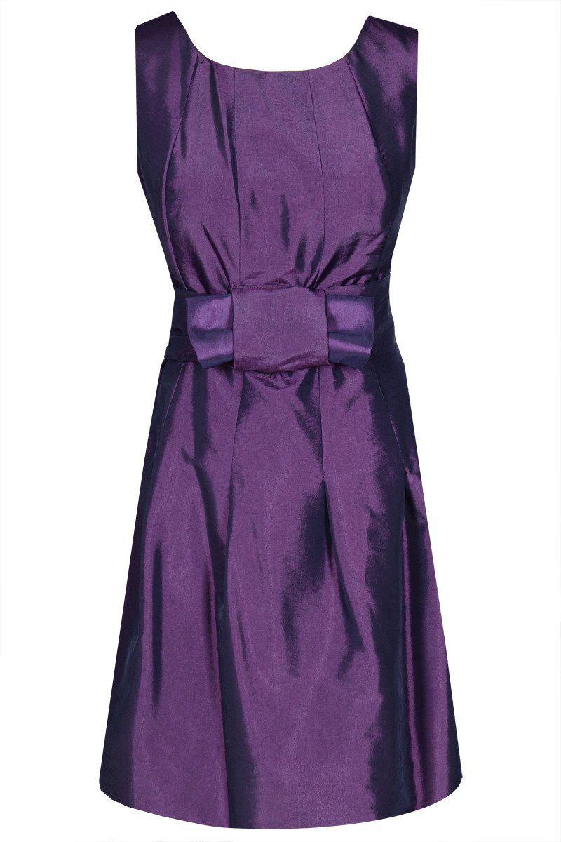 Sukienki Sukienka Suknie FSU156 PURPUROWY