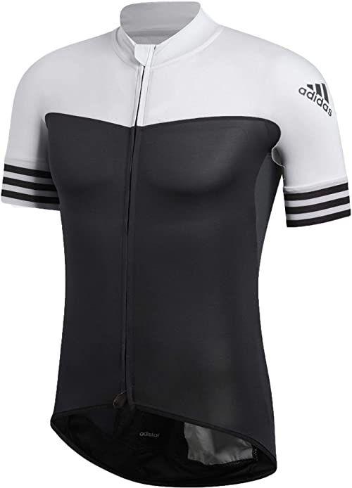 adidas Męska koszulka Adistar trykot, czarna/biała, 2XL