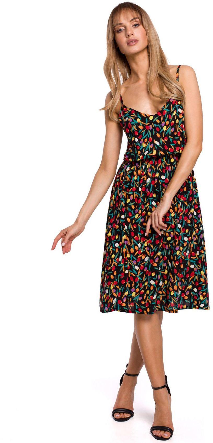 M518 Sukienka na cienkich ramiączkach - model 6