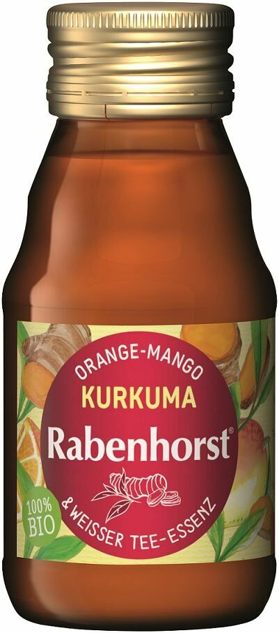 Shot owocowy pomarańcza - mango - kurkuma bio 60 ml - rabenhorst