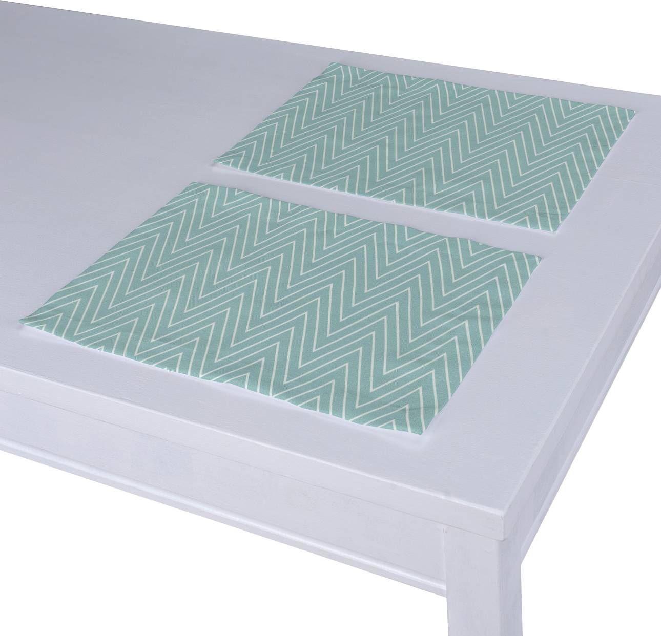 Podkładka 2 sztuki, białe zygzaki na miętowym tle, 40 x 30 cm, Comics