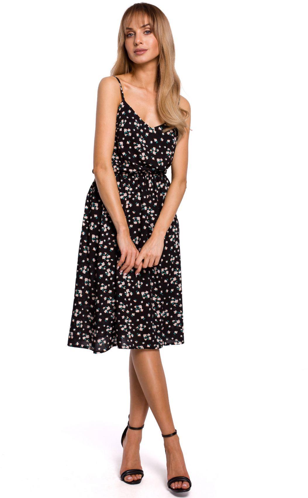 M518 Sukienka na cienkich ramiączkach - model 8