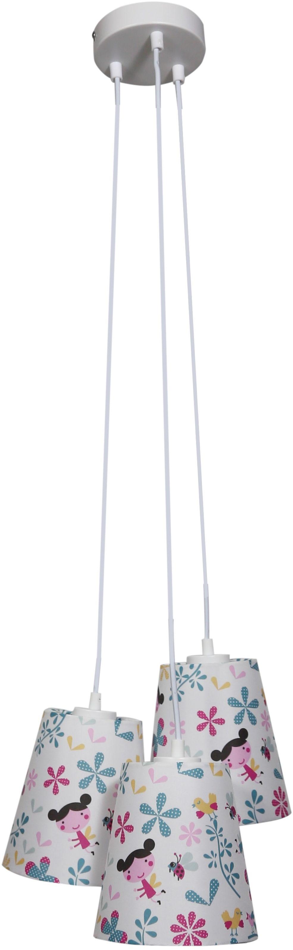 Candellux GIRL 33-62949 lampa wisząca abażur potrójny tkanina wielokolorowy 3X40W E27 32 cm