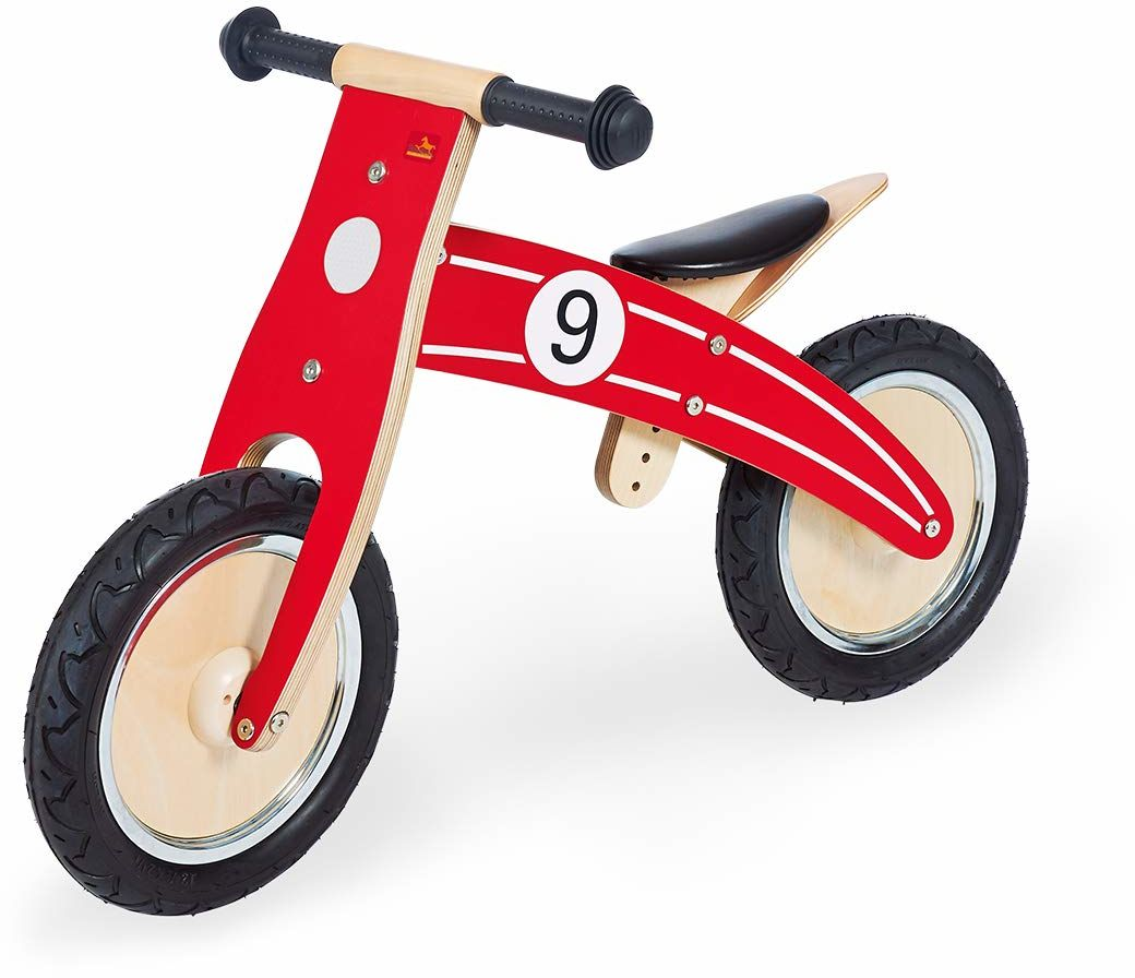 Pinolino Rowerek biegowy Nico, drewniany, ogumienie, możliwość przebudowy z Chopper na rower, zalecany od 2 lat, czerwony