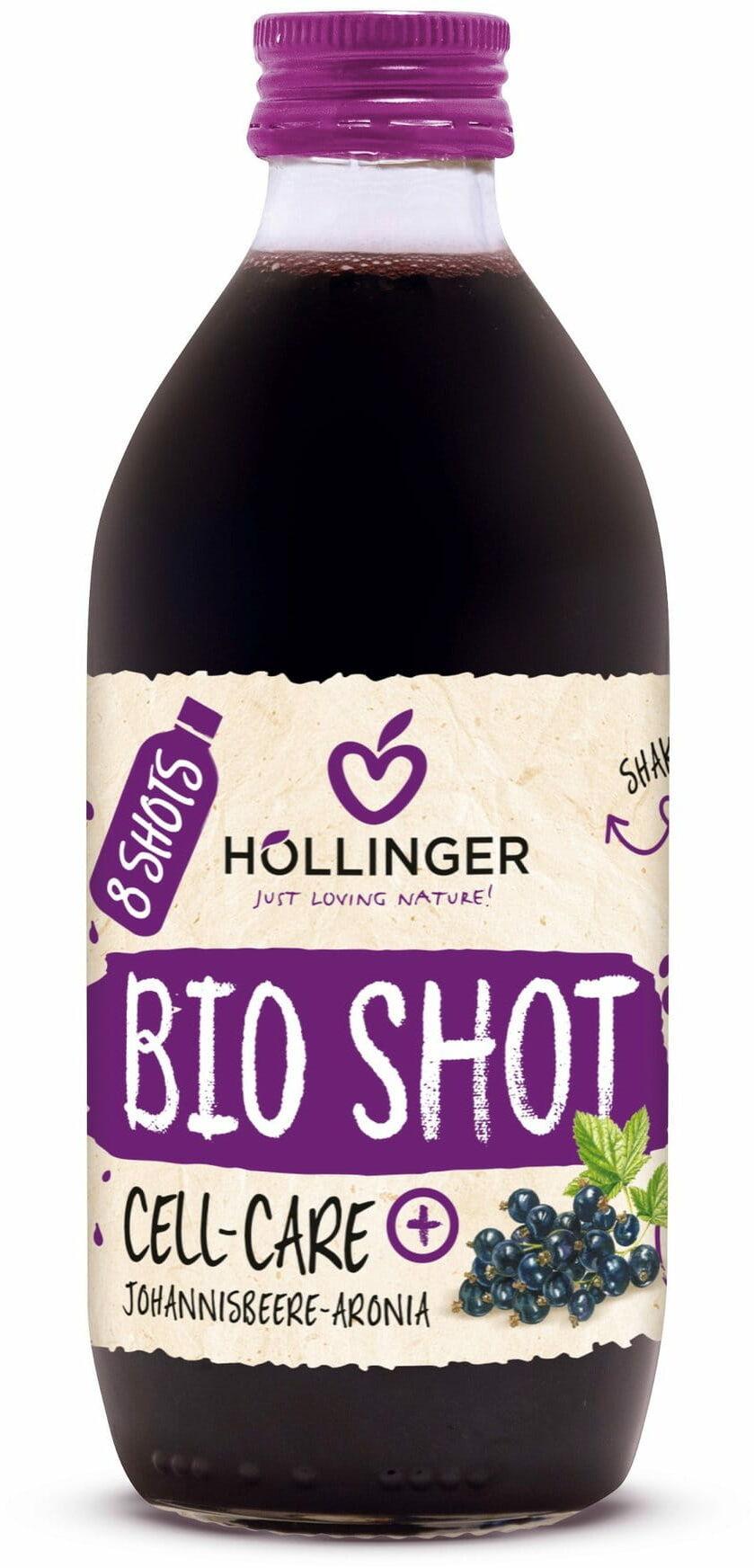 Shot owocowy czarna porzeczka - aronia antyoksydant bio 330 ml - hollinger