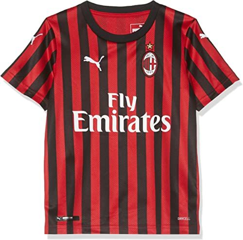 PUMA Repl.jr Top1 Player koszulka domowa, uniseks dla dzieci, Ac Milan 1899 czerwony Tango Red/Puma Black 164