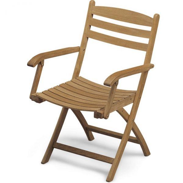 Skagerak SELANDIA Krzesło Składane - Drewno Tekowe