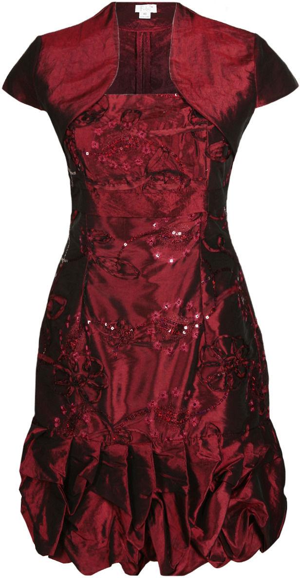 Sukienka FSU157 BORDOWY