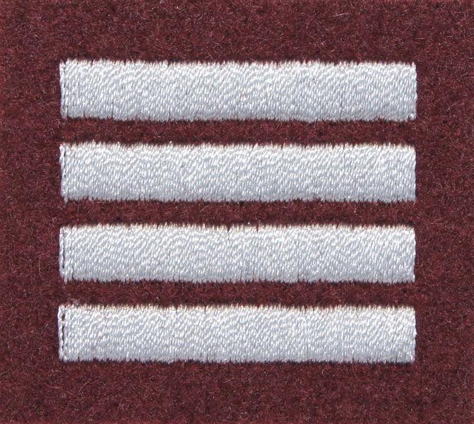 Stopień na beret WP (bordowy / haft) - plutonowy (MIL1847) SR